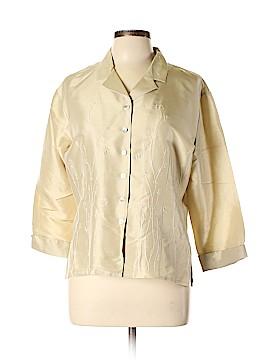 Silkland 3/4 Sleeve Silk Top Size L