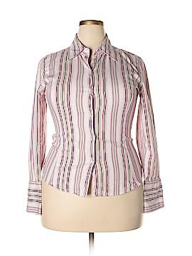 Fiorlini International Long Sleeve Button-Down Shirt Size XL (Plus)