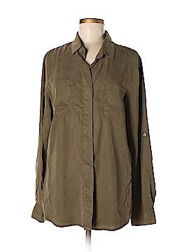 Buttons Long Sleeve Button-Down Shirt Size L