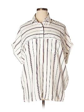 Suzanne Betro Short Sleeve Blouse Size 1X (Plus)