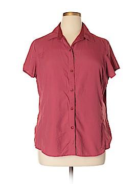 REI Short Sleeve Button-Down Shirt Size XL