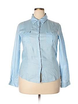 Preview International Long Sleeve Button-Down Shirt Size XL