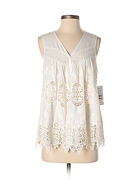 Karen Scott Sleeveless Button-Down Shirt Size S