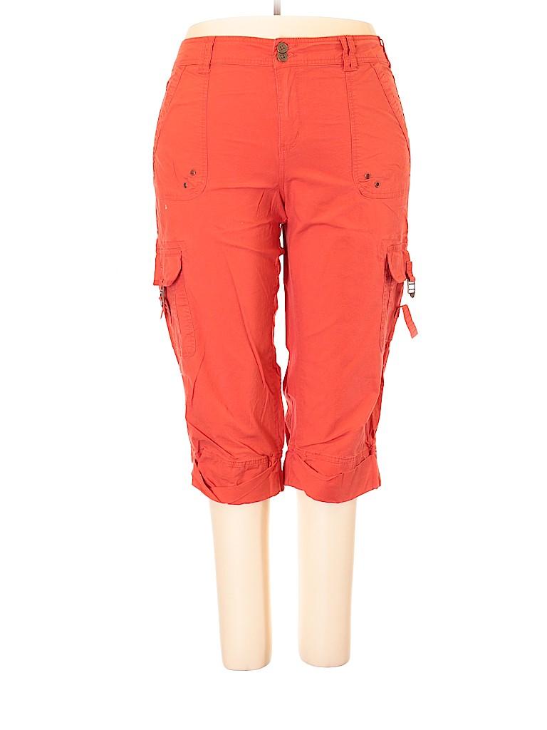 856d367b76 Faded Glory Solid Orange Cargo Pants Size 20 (Plus) - 75% off | thredUP
