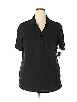 Karen Scott Short Sleeve Polo Size 1X (Plus)