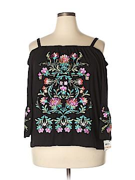 INC International Concepts 3/4 Sleeve Button-Down Shirt Size 2X (Plus)