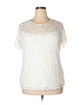 INC International Concepts Short Sleeve Blouse Size 2X (Plus)