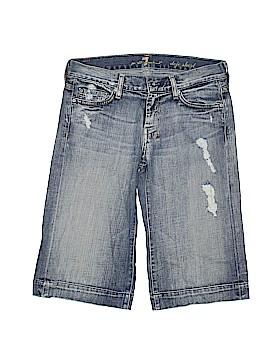 7 For All Mankind Denim Shorts 27 Waist