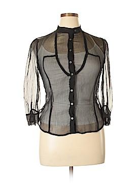 Armani Exchange Long Sleeve Silk Top Size L