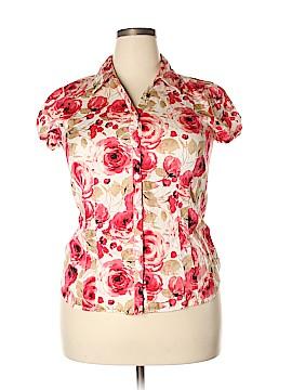 Van Heusen Short Sleeve Button-Down Shirt Size XL