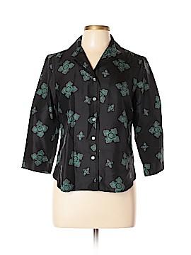 Amanda Smith Long Sleeve Silk Top Size 6