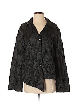 Silk Box Long Sleeve Silk Top Size S