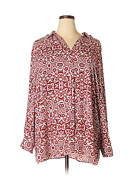 Foxcroft Long Sleeve Blouse Size 24 (Plus)