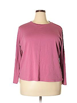 Jones New York Signature Long Sleeve T-Shirt Size 3X (Plus)