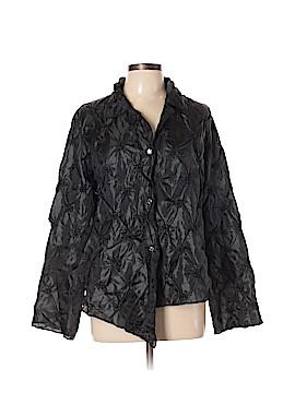 Silk Box Long Sleeve Silk Top Size XL