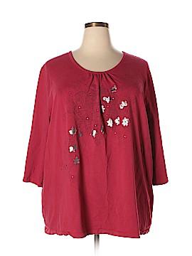 Liz & Me 3/4 Sleeve T-Shirt Size 3X (Plus)
