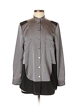 Silk Box Long Sleeve Button-Down Shirt Size S