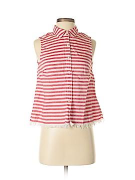 Kensie Sleeveless Button-Down Shirt Size S