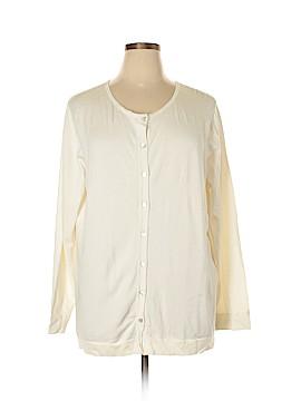 August Silk Cardigan Size 2X (Plus)