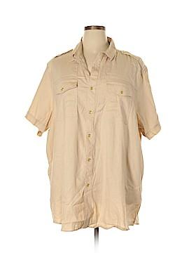 Sean John Short Sleeve Button-Down Shirt Size 4X (Plus)