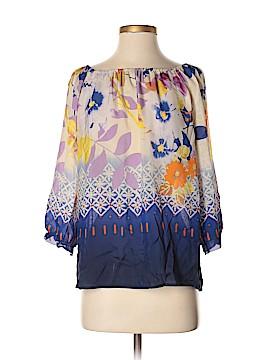 Fei 3/4 Sleeve Silk Top Size M