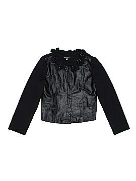 Hannah Banana Faux Leather Jacket Size 7