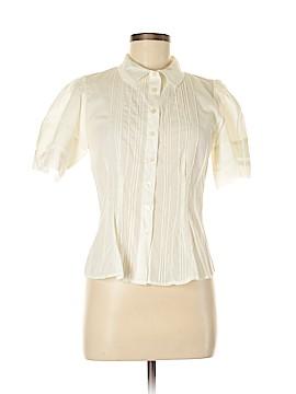 Left of Center Short Sleeve Button-Down Shirt Size 8