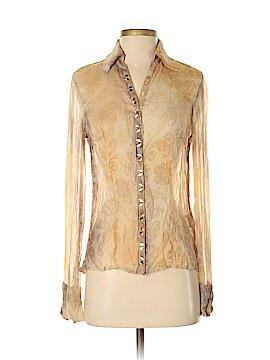 Luisa Cerano Long Sleeve Silk Top Size 4