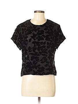 SILK CLUB COLLECTION Short Sleeve Silk Top Size M