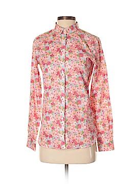 Garnet Hill Long Sleeve Button-Down Shirt Size 0