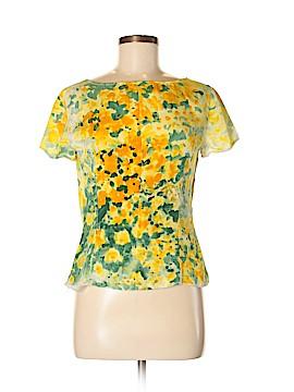 Emanuel Ungaro Short Sleeve Silk Top Size 12