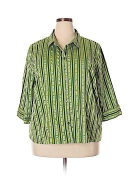 Gitano 3/4 Sleeve Button-Down Shirt Size 26 (Plus)