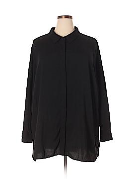 Soft Surroundings Long Sleeve Button-Down Shirt Size 3X (Plus)