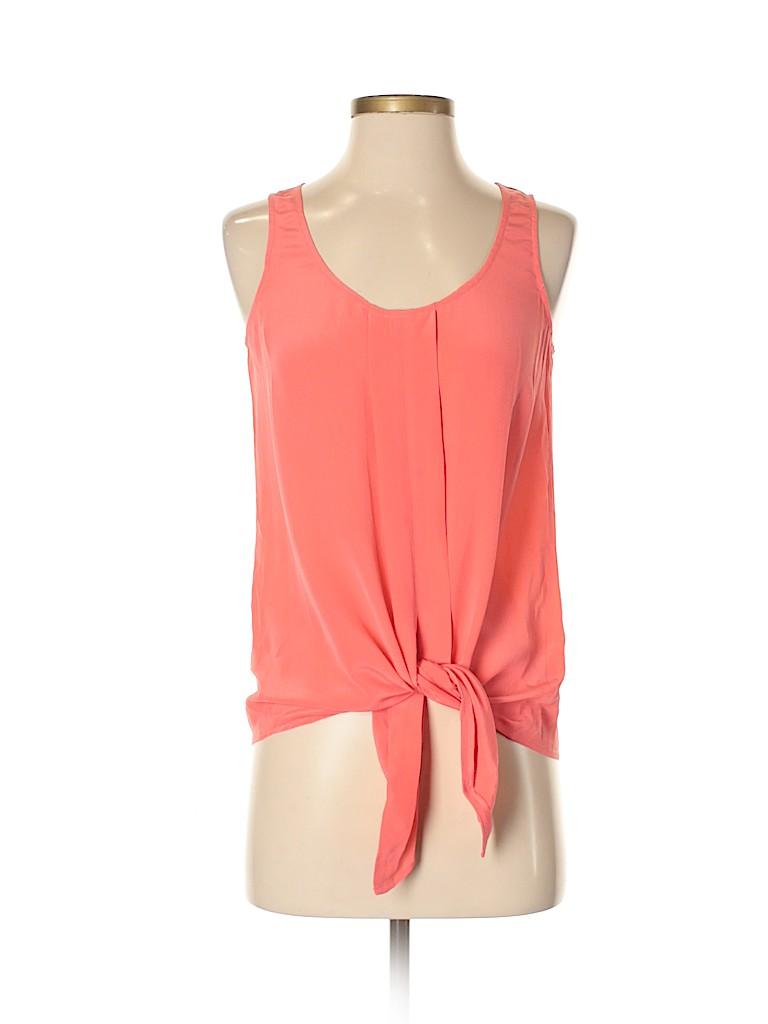 Addison Women Sleeveless Silk Top Size S