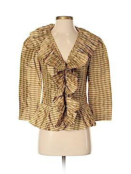 Silk Box Long Sleeve Silk Top Size 4