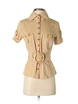 2b bebe Short Sleeve Button-Down Shirt Size S