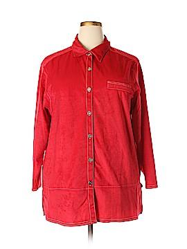Halston Long Sleeve Button-Down Shirt Size 22/24 (Plus)