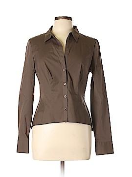 Moda International Long Sleeve Button-Down Shirt Size 10