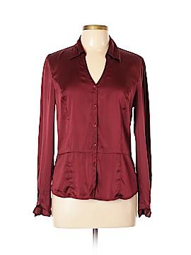 Semantiks Long Sleeve Silk Top Size L