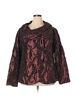 Silk Box Long Sleeve Silk Top Size 1X (Plus)