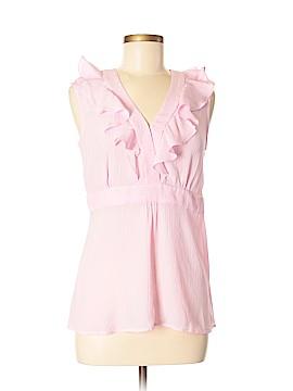 Garnet Hill Sleeveless Silk Top Size 8