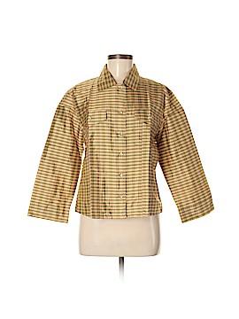Silk Box Long Sleeve Silk Top Size 12