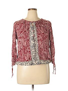 Lucky Brand 3/4 Sleeve Blouse Size XL