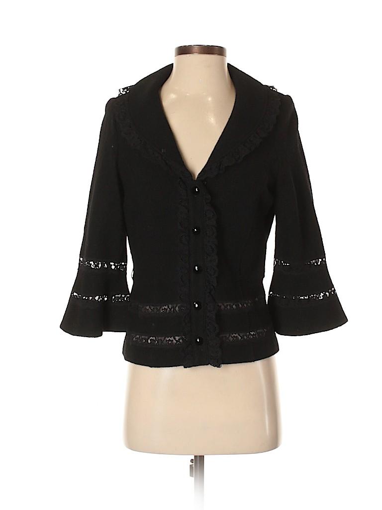 Teri Jon by Rickie Freeman Women Wool Blazer Size 4