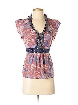 Odille Short Sleeve Silk Top Size 4
