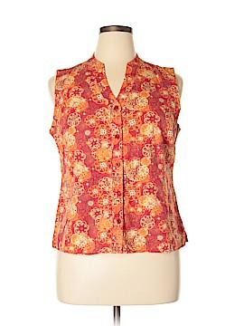 Christopher & Banks Sleeveless Button-Down Shirt Size XL