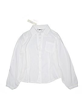 Mingle Long Sleeve Silk Top Size S