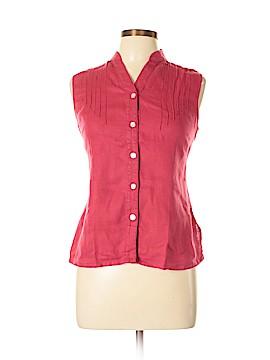 Sarah Spencer Sleeveless Button-Down Shirt Size L