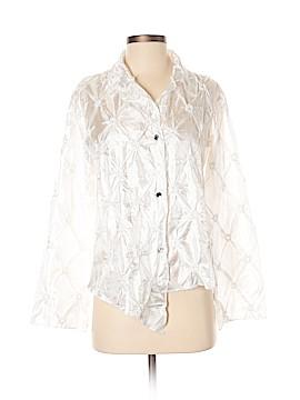 Silk Box Long Sleeve Blouse Size XS