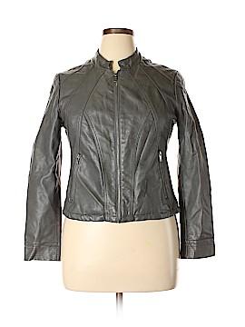 Alfani Faux Leather Jacket Size 14 (Petite)